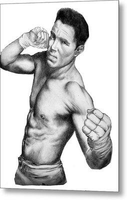 Jake Shields - Strikeforce Champion Metal Print by Audrey Snead