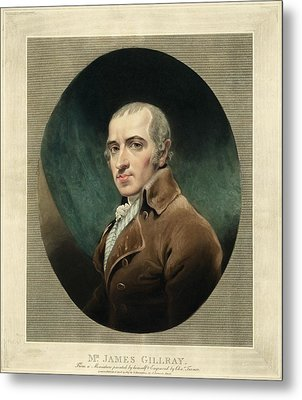 James Gillray, British Caricaturist Metal Print by Miriam And Ira D. Wallach Division Of Art, Prints And Photographsnew York Public Library