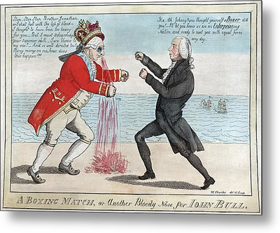 James Madison, A Boxing Match, Or Metal Print by Everett