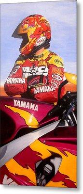 Jamie James - Yamaha Yzf Metal Print by Jeff Taylor