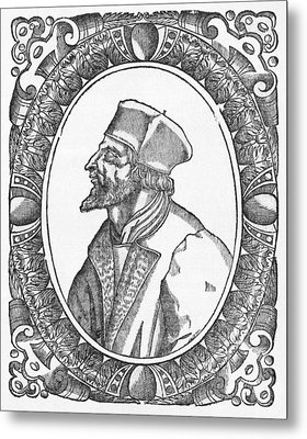 Jan Hus, Czech Religious Reformer Metal Print by Middle Temple Library