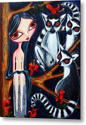 Jane And The Lemurs Metal Print by Leanne Wilkes