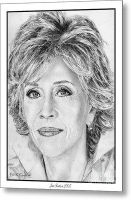 Jane Fonda In 2005 Metal Print by J McCombie