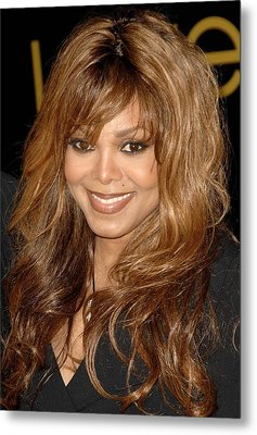Janet Jackson At Arrivals For Cartier Metal Print by Everett