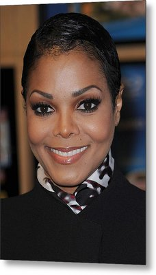 Janet Jackson At In-store Appearance Metal Print by Everett