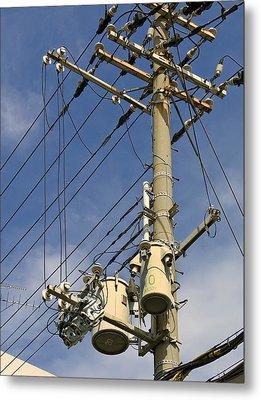 Japan Power Utility Pole Metal Print by Daniel Hagerman