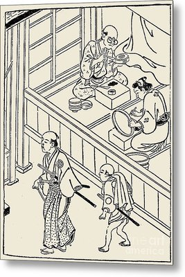 Japan: Samurai, 1700 Metal Print by Granger