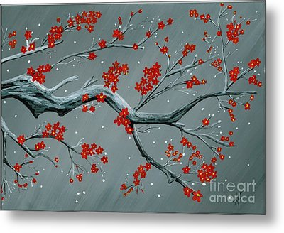 Japanese Cherry Blossoms Metal Print by Kat Beights