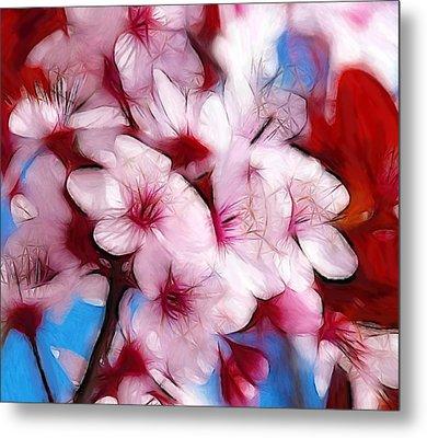 Japanese Flower Metal Print by Steve K