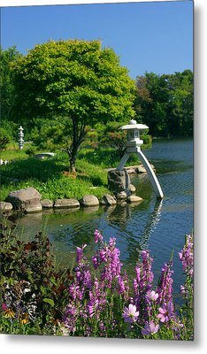 Metal Print featuring the photograph Japanese Garden by Cindy Haggerty
