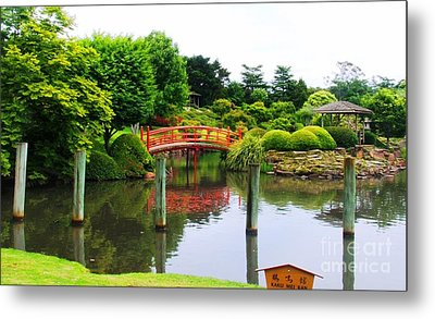 Japanese Reflections Metal Print by Therese Alcorn