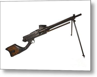 Japanese Type 11 Light Machine Gun Metal Print by Andrew Chittock