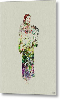 Japanese Woman Dancing Metal Print by Naxart Studio