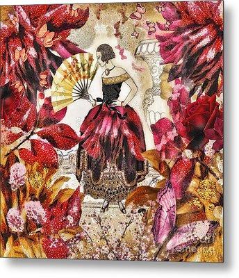Jardin Des Papillons Metal Print by Mo T