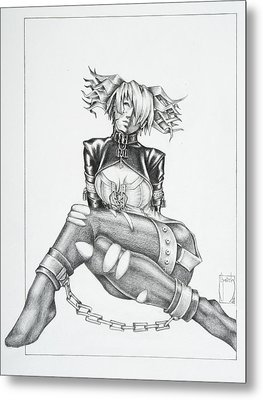 Jasmin - The Demented Metal Print by Sean Smith