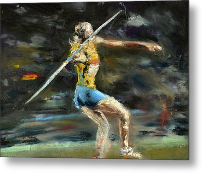 Javelin Thrower Metal Print by Paul Mitchell