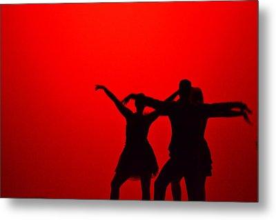 Jazz Dance Silhouette Metal Print