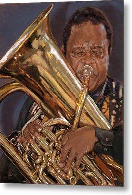 Jazz Legend- Howard Johnson Metal Print by Larry Seiler