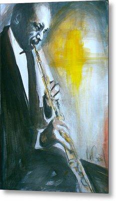 Jazz Preparation Metal Print