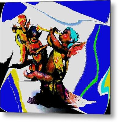 Jazz Trio At The Cloud Bar Metal Print by Merlin Neff