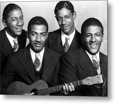 Jazz Vocal Quartet The Mills Brothers Metal Print by Everett