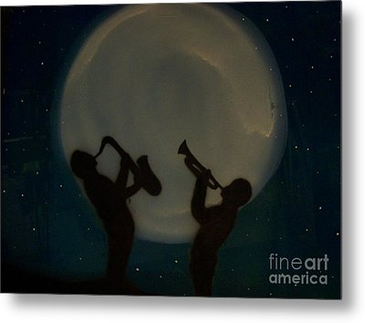 Jazzing At The Moon Metal Print by Damion Powell