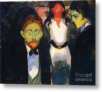 Jealousy Metal Print by Pg Reproductions