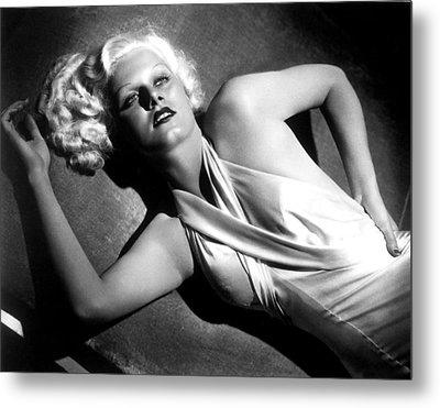 Jean Harlow, Fashion Still For Dinner Metal Print by Everett