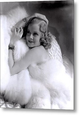 Jean Harlow, Mgm, 1930s Metal Print by Everett