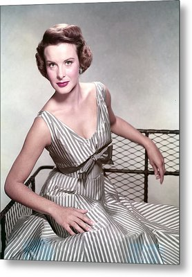 Jean Peters, In The Film, A Man Called Metal Print by Everett