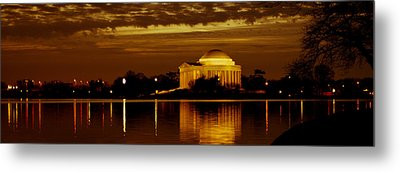 Jefferson Memorial - Panoramic Metal Print by David Hahn