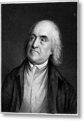 Jeremy Bentham, English Social Reformer Metal Print by Middle Temple Library