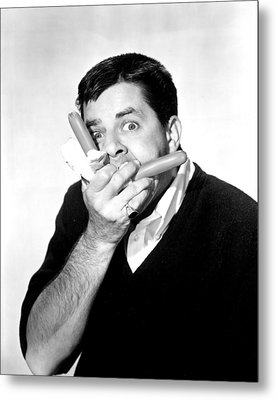 Jerry Lewis, Portrait Metal Print by Everett