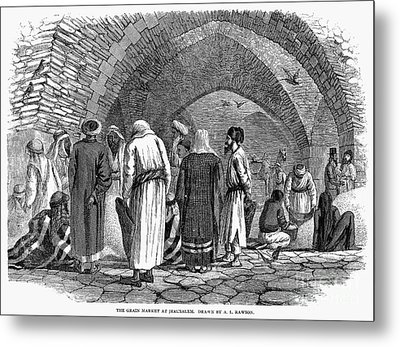 Jerusalem: Grain Market Metal Print by Granger