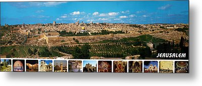 Jerusalem Poster Metal Print by Munir Alawi
