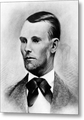Jesse James, The Western Outlaw Metal Print by Everett