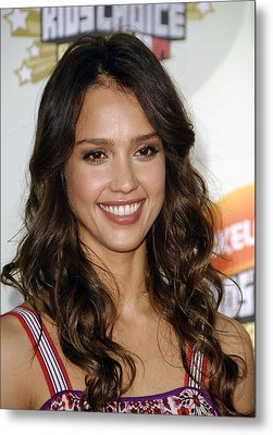 Jessica Alba At Arrivals For 2007 Metal Print