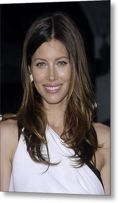 Jessica Biel At Arrivals For The A-team Metal Print by Everett