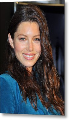 Jessica Biel At In-store Appearance Metal Print by Everett