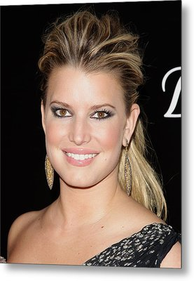 Jessica Simpson In Attendance Metal Print by Everett