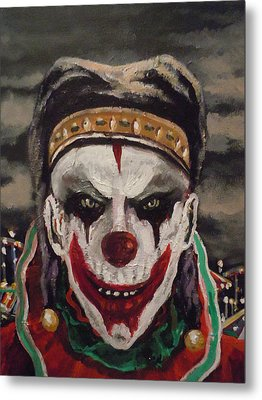 Metal Print featuring the painting Jester's Night by James Guentner