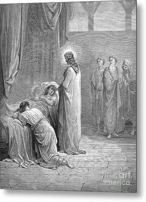 Jesus & Jairus Daughter Metal Print by Granger