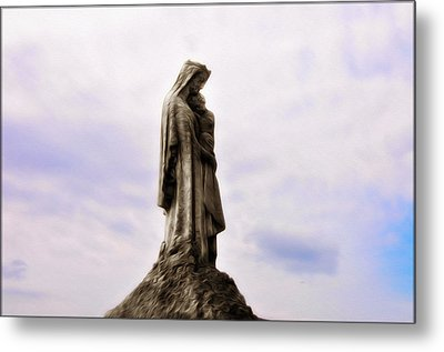 Jesus And Mary Metal Print by Bill Cannon