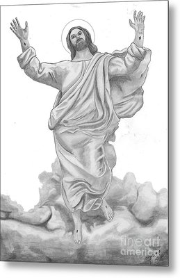 Jesus Approaches The Gates Of Heaven Metal Print by Calvert Koerber