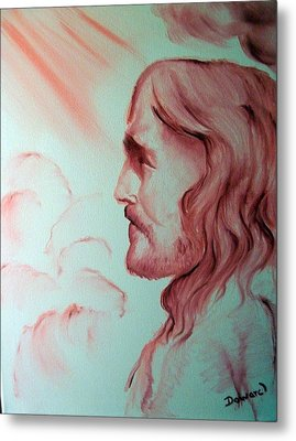Jesus In His Glory Metal Print by Raymond Doward