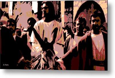 Jesus Rides Into Jerusalem Metal Print by George Pedro