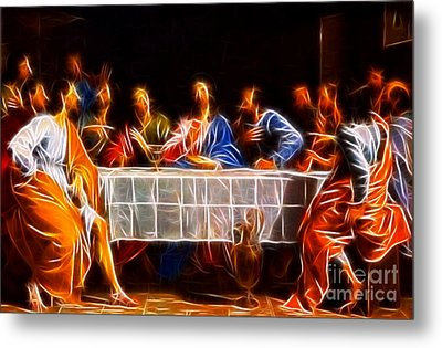 Jesus The Last Supper Metal Print by Pamela Johnson