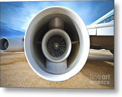 Jet Engine Metal Print by Eddy Joaquim