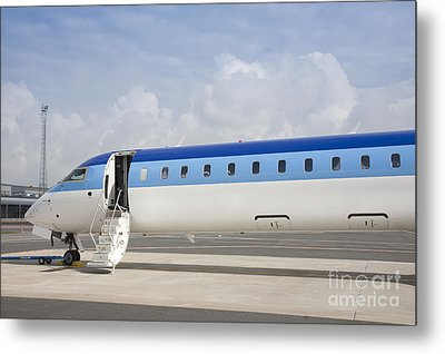 Jet Plane With Extended Steps Metal Print by Jaak Nilson