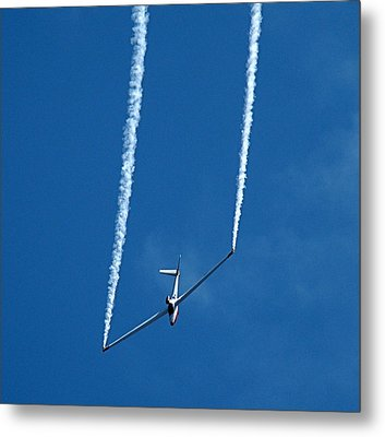 Metal Print featuring the photograph Jet Powered Glider by Nick Kloepping